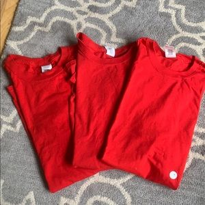 Lot of 3 red T-shirt's.